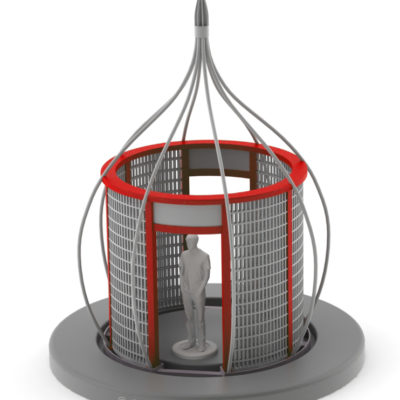 Large red CAD model