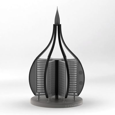 Black CAD model