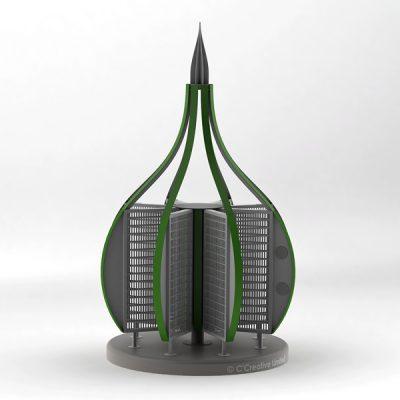 Green CAD model